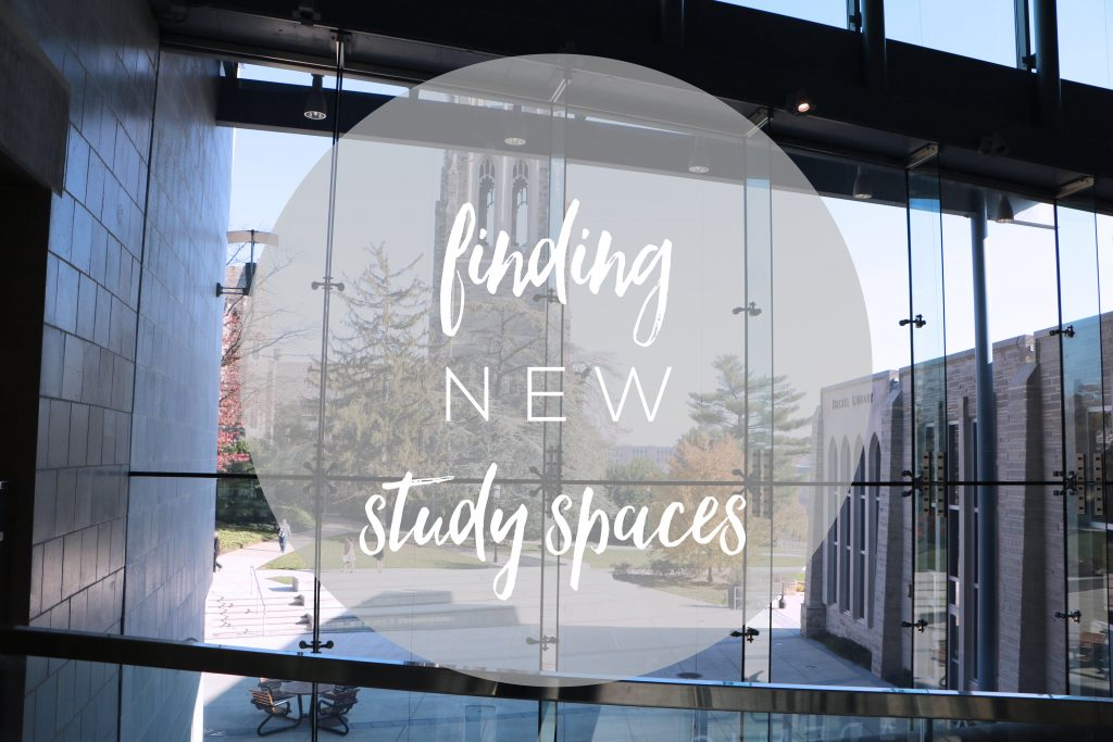 finding new study spaces with library backdrop