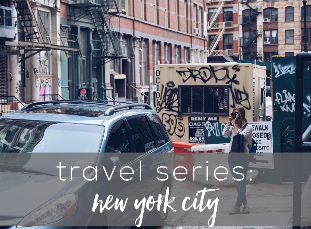 "photo with text that reads, ""travel series: nyc"""