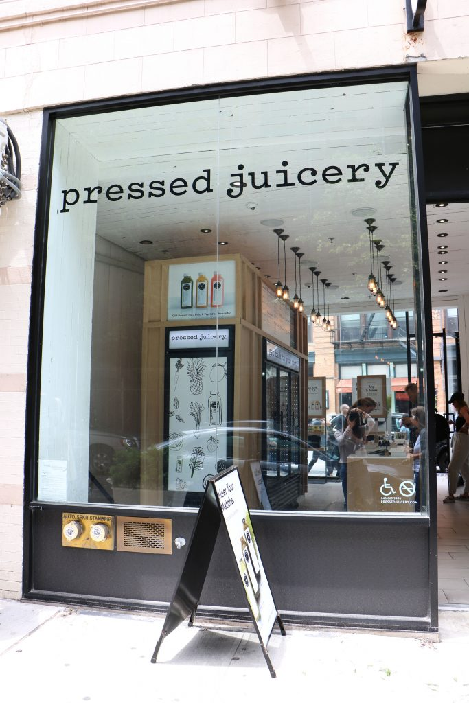 pressed juicery storefront