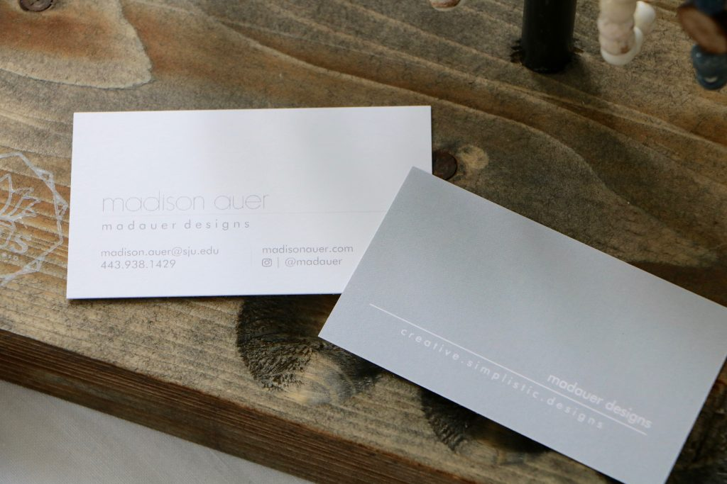 upclose view of business cards