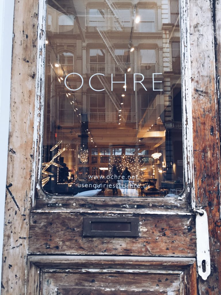 ochre store front